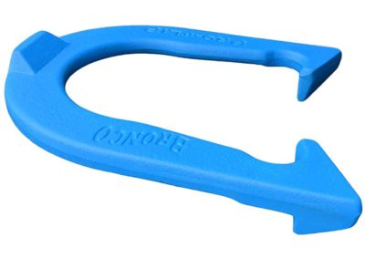 Bronco Blue Letter-side Angled pitching horseshoe