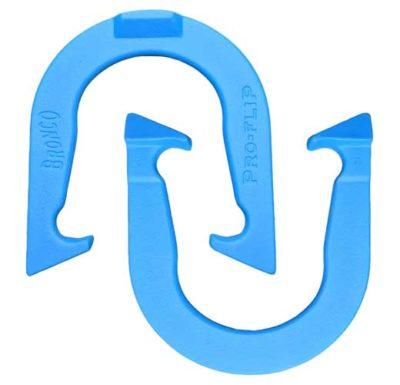 Bronco Blue pitching horseshoe