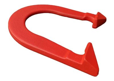 Bronco Red Cleat-side Angled pitching horseshoe