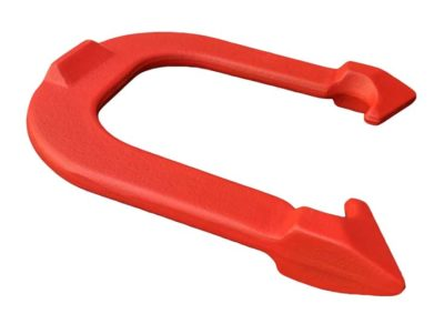 Challenger Red Cleat-side Angled pitching horseshoe