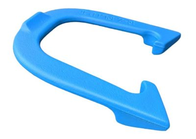 EZ Flip II Blue Letter-side Angled pitching horseshoe