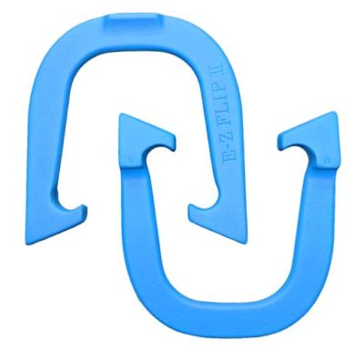 EZ Flip II Blue pitching horseshoe