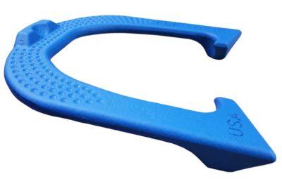 Flip Grip New Blue Letter-side Angled pitching horseshoe
