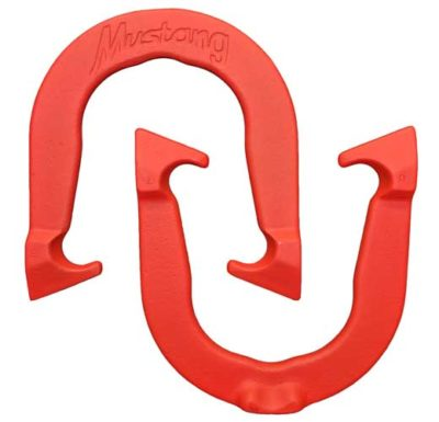 Mustang Red pitching horseshoe