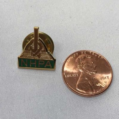 NHPA Tie Tack with Stake & Shoes