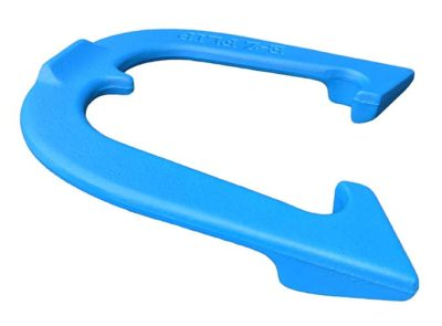 EZ Flip Blue Letter-side Angled pitching horseshoe
