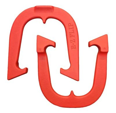 EZ Flip Red pitching horseshoe