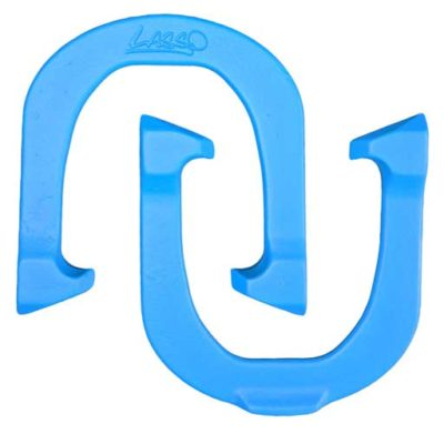 Lasso Blue pitching horseshoe