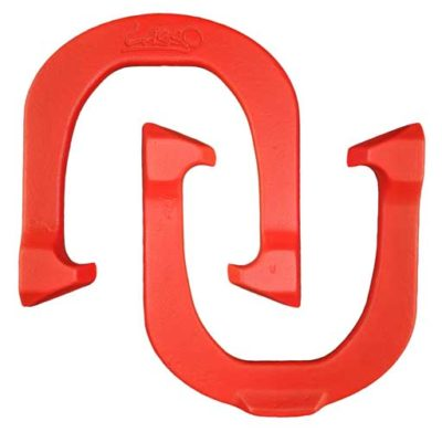 Lasso Red pitching horseshoe
