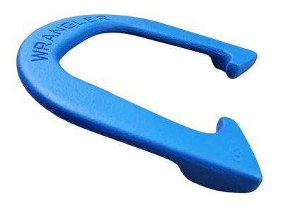 Wrangler Blue Letter-side Angled horseshoe