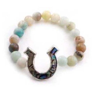 Abalone Horseshoe Bracelet