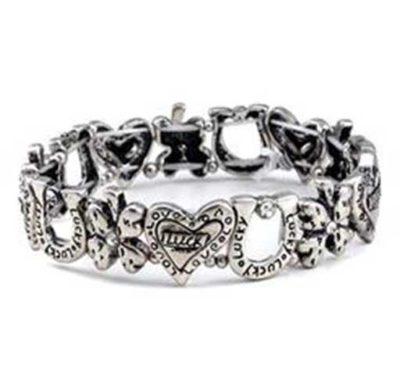 Lucky horseshoe bracelet silver