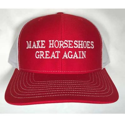 Red Make Horseshoes Great Again cap