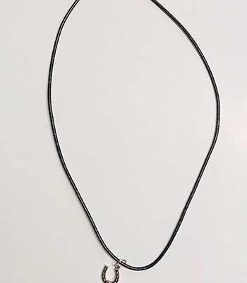 Black Cord Horseshoe Necklace