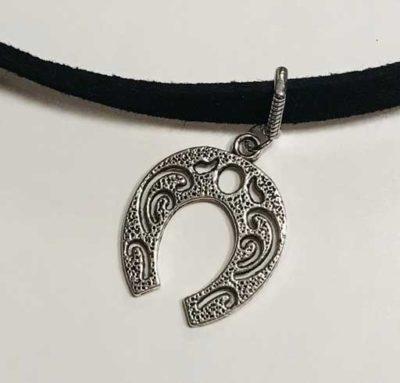 New-Black-choker---2-pendant-only