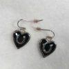 Black Heart Horseshoe Earrings
