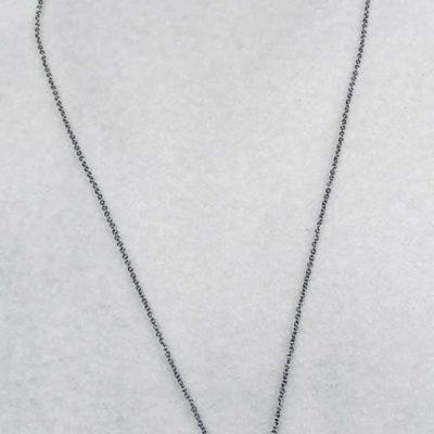 CZ Horseshoe Pendant Necklace
